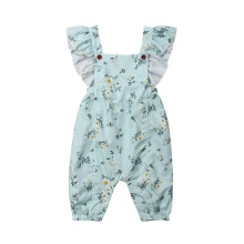 Summer Baby Girls Cotton Romper 2019 Newest Newborn Baby Girl Floral Printed Clothes Sleeveless Romp