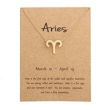 12 Constellation pendentif collier signe du zodiaque collier cadeaux danniversaire Message carte pour femmes fille