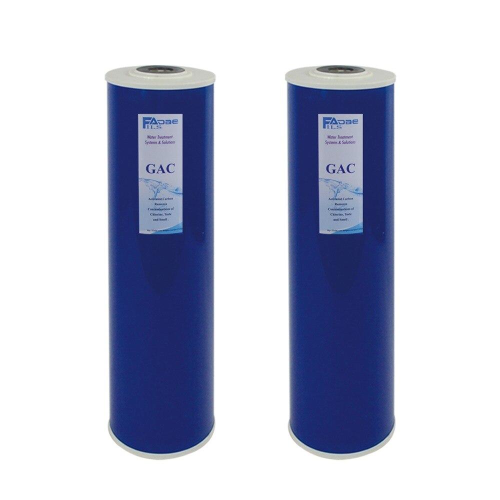 """Упаковка из 2: Высокая емкость 4 5 &quotx 20"""" большой синий весь дом замена фильтров GAC"""