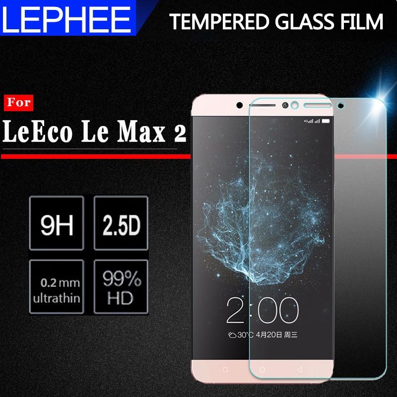 "LEPHEE vidrio templado para Letv LeEco Le Max 2 X820 X829 Protector de pantalla para LeEco Le Max 2 X821 película protectora de teléfono Max2 5,7"""