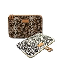 Neue Leopard Leinwand Stoff Hulle Tasche Notebook laptop hulse 8 9 10 11 12  13 14 15 zoll fur MacBook Air Pro Lenovo Dell HP
