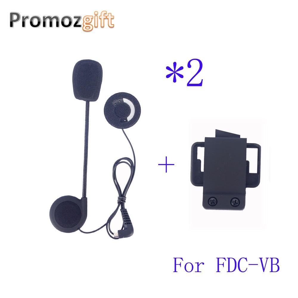 2 шт. наушники и зажим для FDC-VB Intercomunicador BT Bluetooth мотоциклетный шлем гарнитура