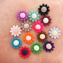 New 50pcs Mix Resin Cute Colorful 12mm Sunflower Flat Back Stone Appliques DIY Wedding Scrapbook Craft F637