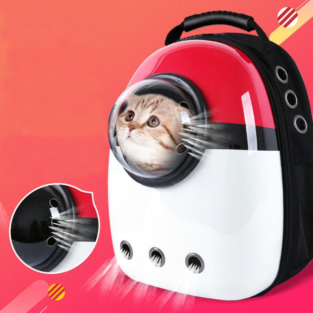 Bolsa de viaje al aire libre mochila de perro Gato cápsula transparente transpirable