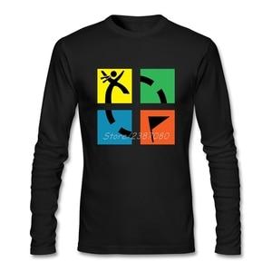 2019 New Geocaching T Shirt pp Mens T Shirts Fashion 2019 Cotton Long Sleeve Custom Geocache Men T-shirt
