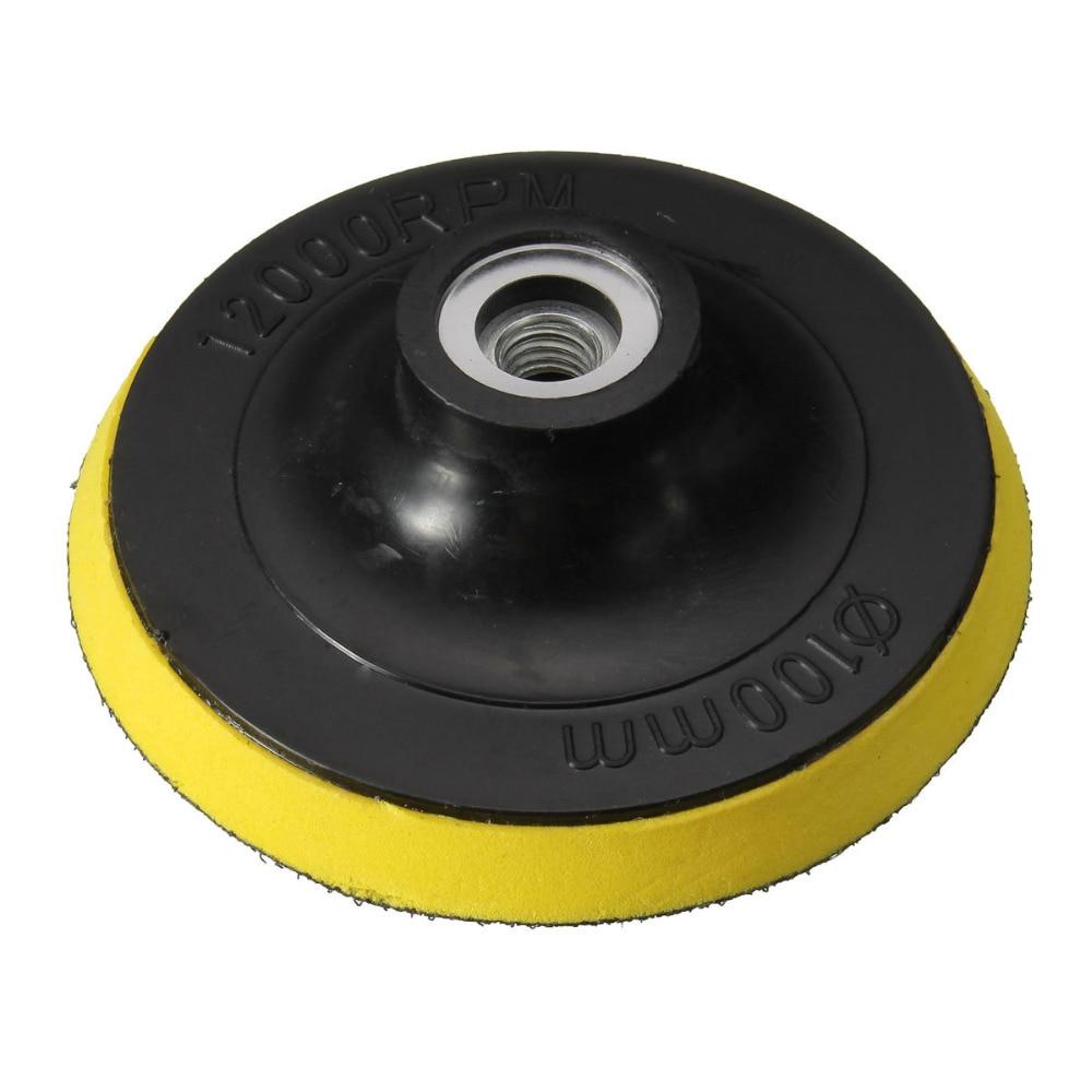 WENXING M10 M14 Backing Pad Car Polisher Bonnet Holder 34567inch Angle Grinder Wheel Sander Paper Disc Polishing