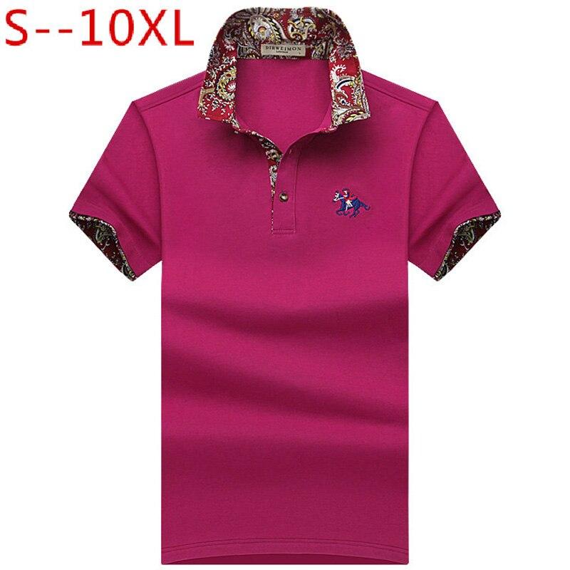 2019 nova moda masculina polo camisa para polos masculino solto manga curta confortável polo plus size 6xl 7xl 8xl 9xl 10xl