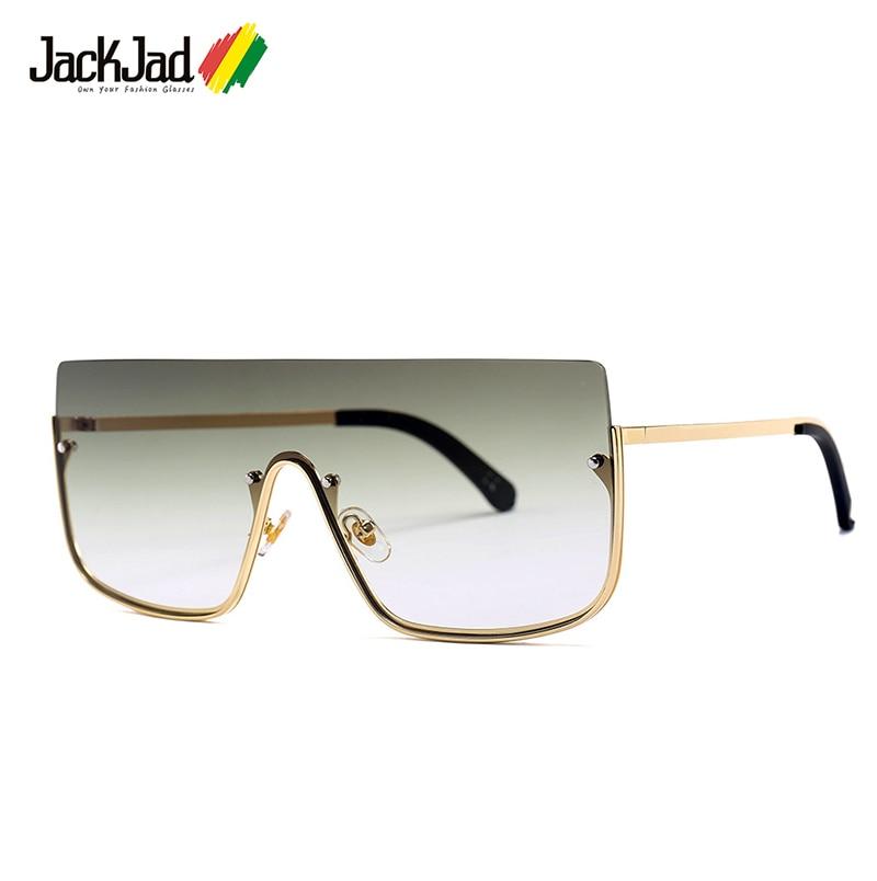 JackJad 2019 moda semi-rimless tarcza styl nity okulary mężczyźni fajne gradientu marka projekt okulary óculos De Sol 25032