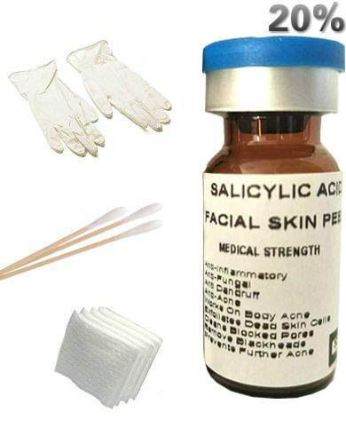 Salicylic Acid 20% Professional Chemical Gel Peel for Skin Acne Scars, Acne Treatment, Breakouts Whiteheads Blackheads Pore Size