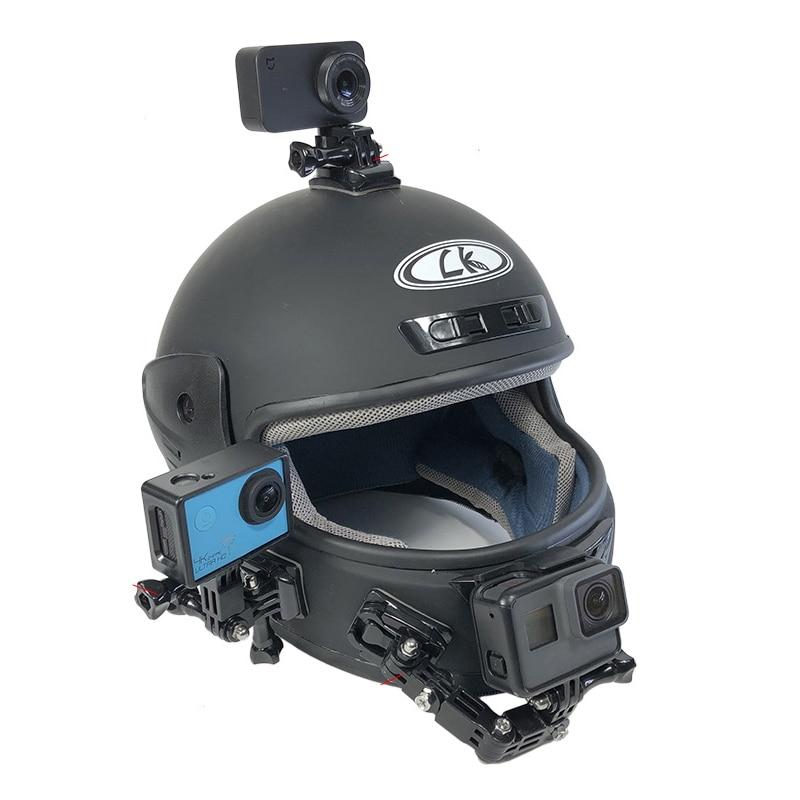 Motorcycle Helmet Mount Curved Adhesive Arm For Xiaomi yi 4K Gopro Hero 9 8 7 6 5 SJCAM sj4000 Eken H9 Action Camera Accessories 1pcs j hook buckle surface mount for yi sjcam sj4000 sj5000 sj7000 for gopro 7 6 5 4 3 action camera