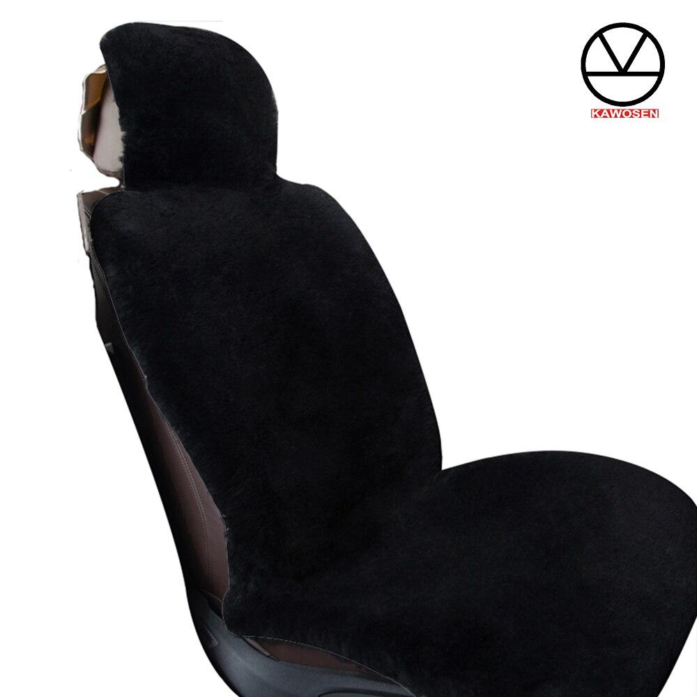 KAWOSEN 1 PCS Australian Sheepskin Fur Seat Cover, Super Warm Universal Car Seat Cover, Wool Car Seat Covers Auto Cushion WSCP02