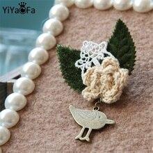 YiYaoFa 수제 빈티지 버드 핀 & 브로치 골동품 패브릭 브로치 버클 여성 액세서리 코사지 선물 BR-24