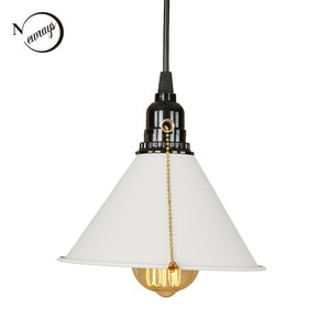 Vintage art deco pendant light LED E27 modern loft hanging lamp with switch for living room bedroom kitchen restaurant office