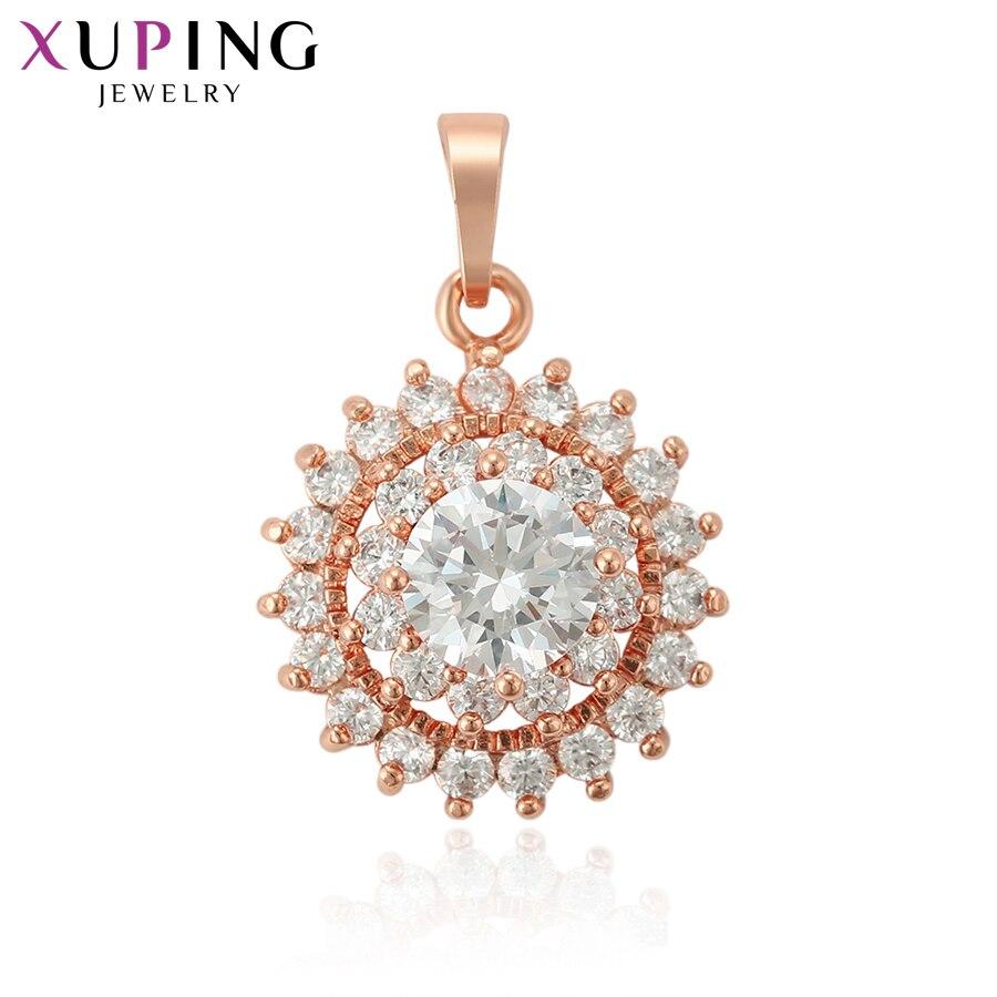 Xuping luxe Style Rural collier pendentifs couleur or Rose marque de mode fête/bijoux de mariage pour les femmes 33766