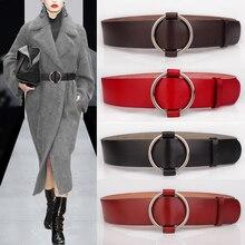 Robe une pièce en cuir véritable   Première couche de cuir de vache, ceinture de manteau pour femme, cummerbund à la mode, sangle de décoration assortie
