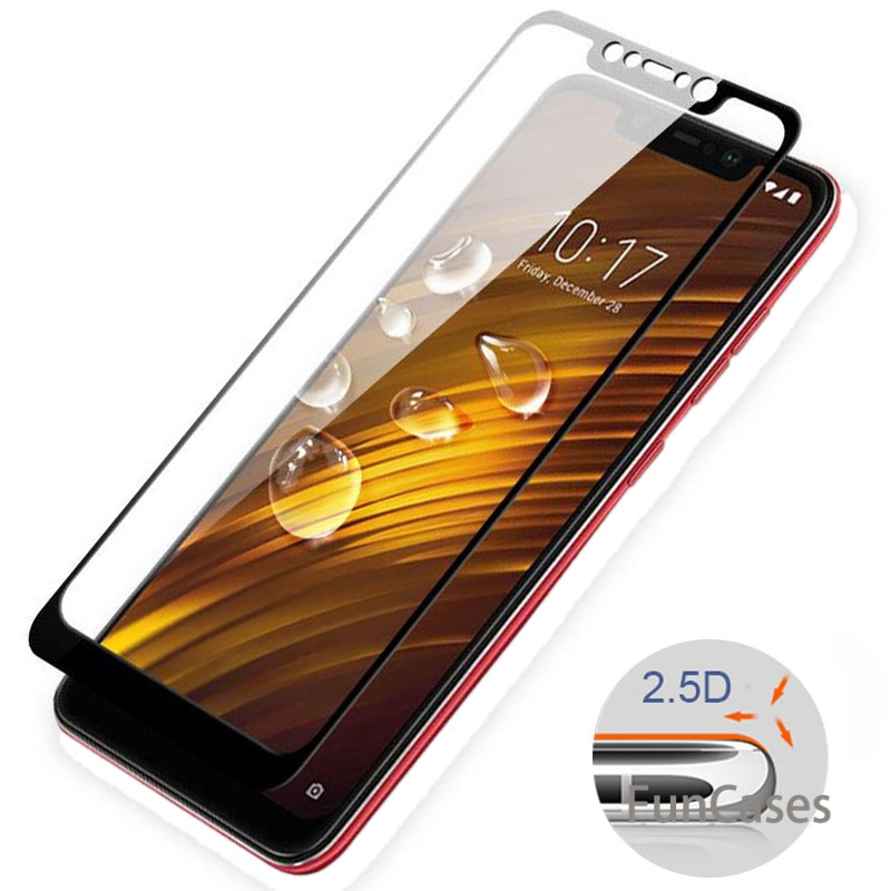 360 para Xiaomi Pocophone F1 caso armadura de vidrio templado Poco F1 cubierta del teléfono para Xioa mi Xio mi Xiao mi A2 Lite 8 SE A1 mi A2 mi película 8