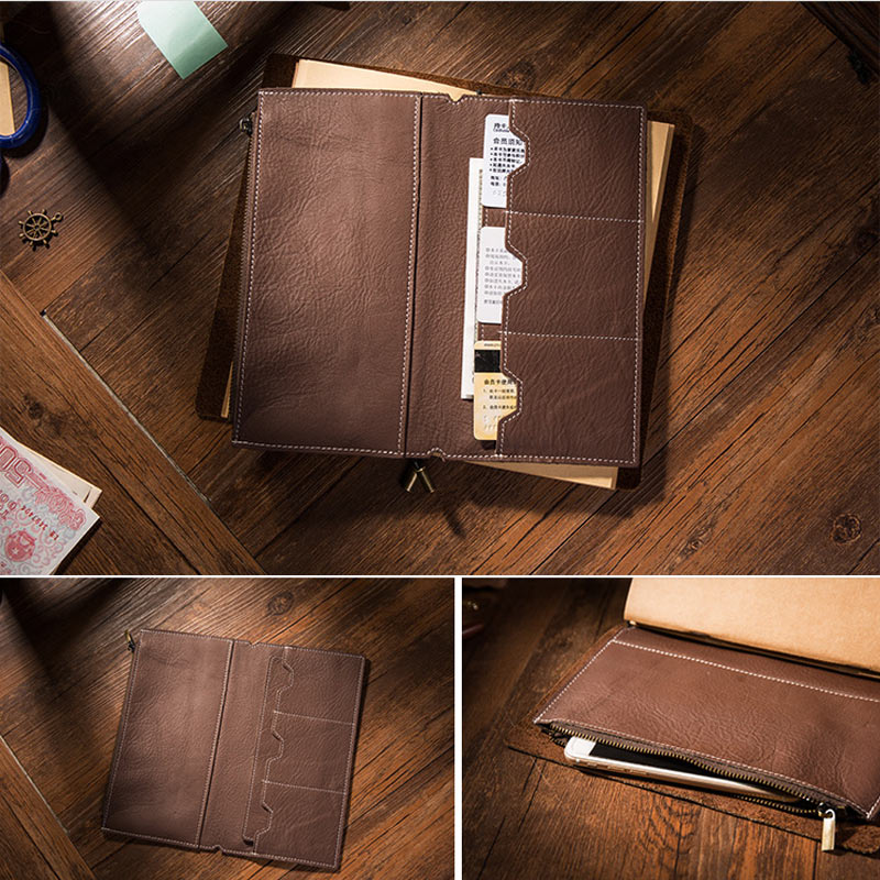 Yiwi личи зернистая кожа, дорожная сумка для ноутбука, сумка для хранения карт, сумка для путешествий Midori, винтажная Ретро сумка, аксессуары