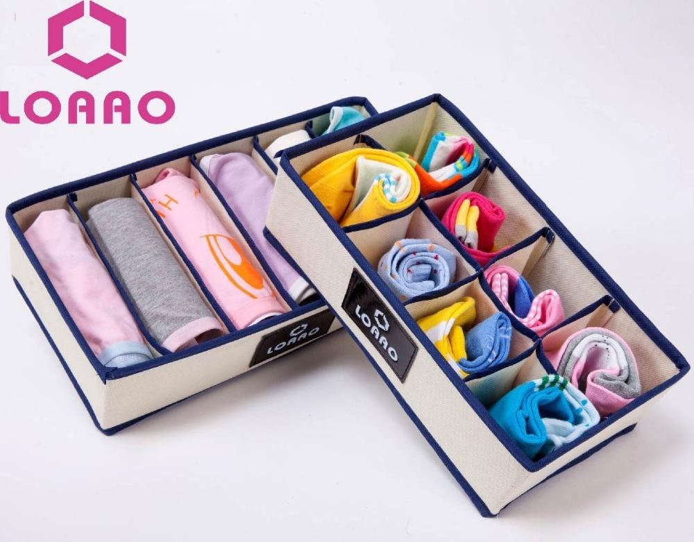 LOAAO 2 шт. коробка для хранения носков чехол-органайзер коробка для хранения в доме Органайзер Сумка