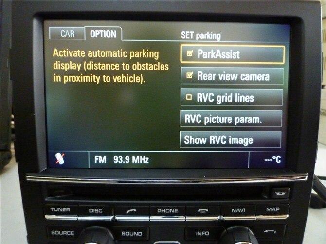 Emulador Original de imagen inversa/activador de cámara de visión trasera para nuevo Porsche PCM3.1