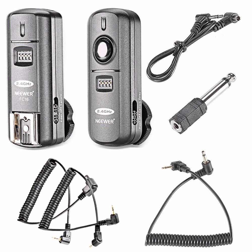 Neewer FC-16 multi-canal 2.4 ghz 3-em-1 flash sem fio/estúdio flash gatilho com obturador remoto para canon 1100d 100d 700d 7d 6d