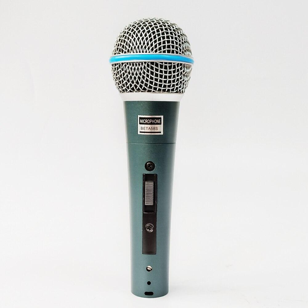 Beta58a micrófono de mano con cable PARA karaoke bueno para cantar vocal ordenador PC enseñanza de Iglesia SM 58 57 con interruptor