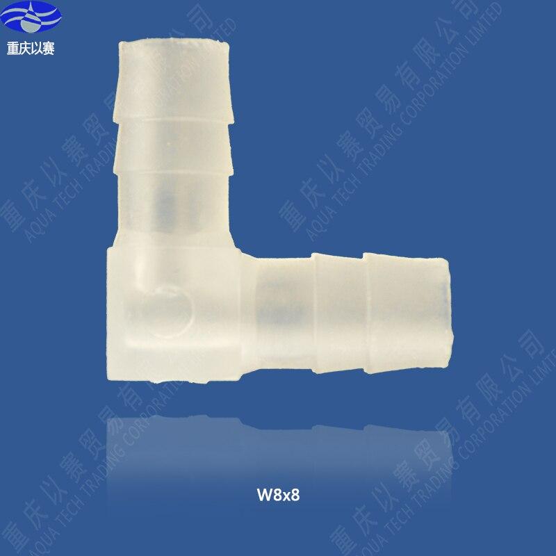 وصلة كوع بلاستيكية سريعة 8X8, تجهيزات كوع بلاستيكية لإمداد المياه ، موصل خرطوم ، تجهيزات أنابيب