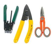 Glasvezel Tool 3 sets FTTH Splice fiber optic toolkits Pixian Fibre strippen + glasvezel + Kevlar Schaar gratis verzending