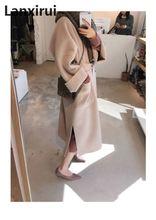 Nova chegada outono estilo europeu feminino plus size longo cardigan camisola de manga comprida casaco solto grandes jardas casaco outwear grande 3xl