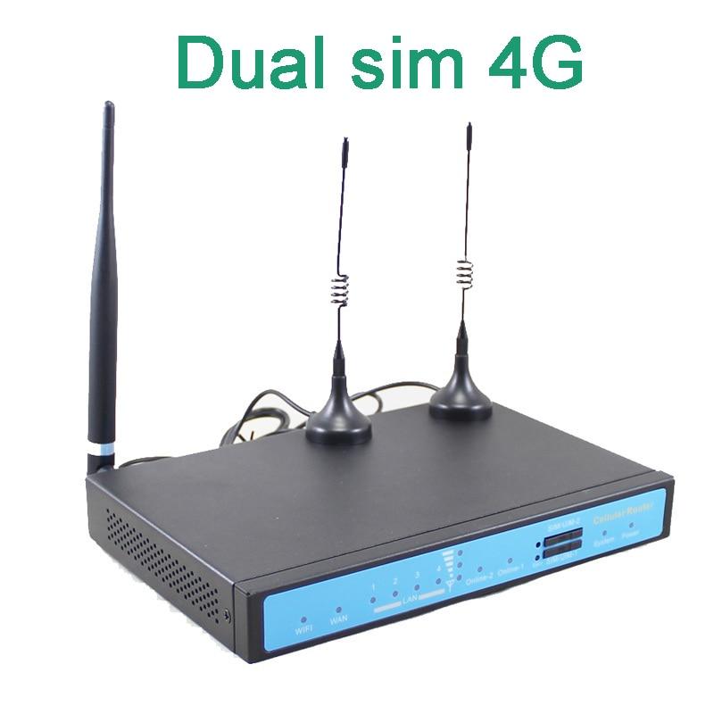 Бесплатная доставка курьером! YF360D серии LTE FDD TDD Промышленные Две сим-карты 4G маршрутизатор для M2M применения