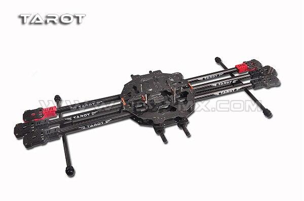 F07803 tarot fy690s tl68c01 3k fibra de carbono 6-axis aeronave dobrável rc hexacopter quadro kit wheelbase 690mm para diy fpv zangão fs