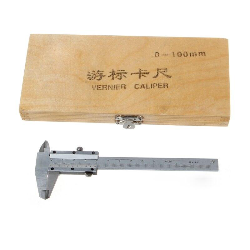 0-100mm 4 אינץ vernier caliper 100mm כיס מיני micometer קליפר עובי למדוד כלי W315