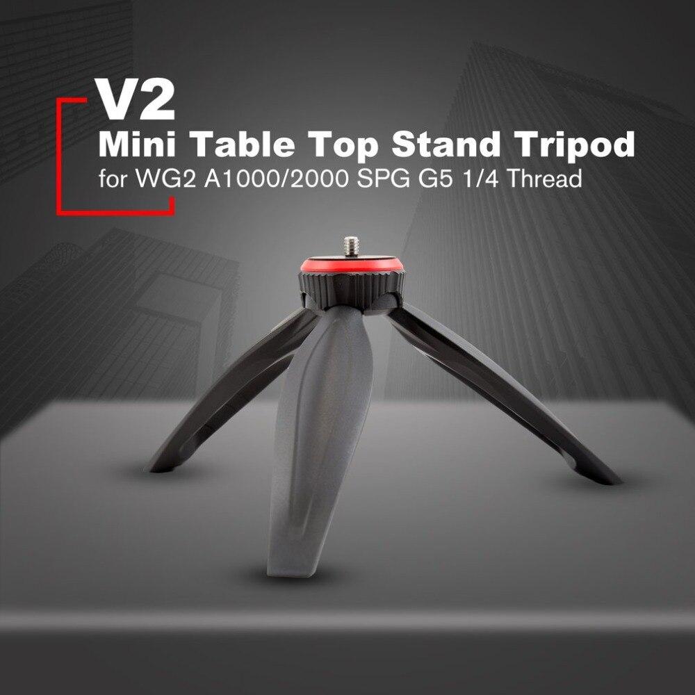 """Feiyutech v2 mini fotografia mesa suporte tripé para feiyutech wg2 a1000/2000 spg g5 série estabilizador com 1/4 """"rosca"""