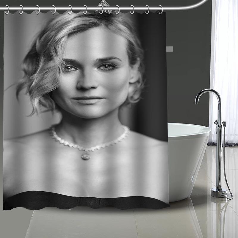 Cortina de ducha de poliéster de tela moderna respetuosa con el medio ambiente para cuarto de baño con gancho para más cortinas personalizadas