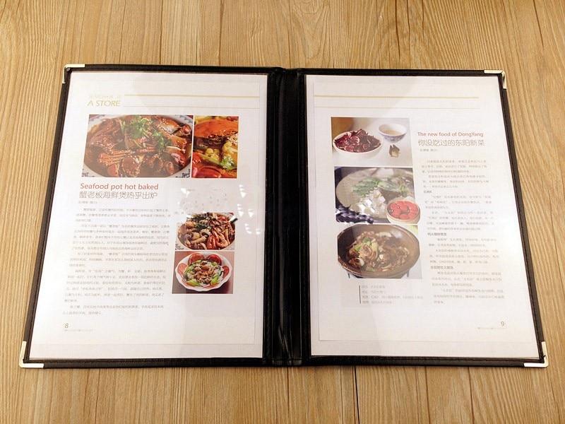 Прозрачный держатель для меню из ПВХ 1 2 3 4 5 листа 6 8 10 видов А4 Прозрачная Обложка
