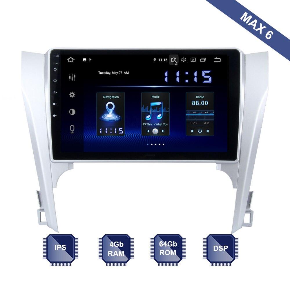 אנדרואיד 10 רכב רדיו 2 דין GPS Navi עבור טויוטה קאמרי V50 סטריאו 2011 2012 2013 2014 PX6 DSP IPS HDMI 4Gb + 64Gb RDS WIFI USB המפה