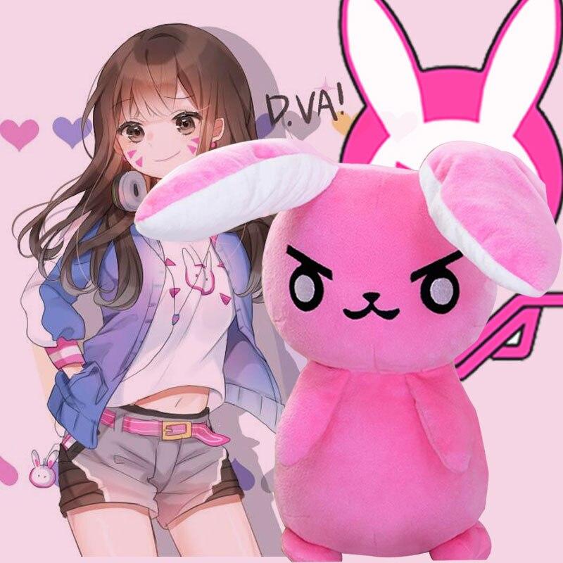 50 CM Spiel Overwatches Rosa Dva Kaninchen Plüschtiere Die Letzten Bastion OW Ganymede Solf Plüsch Kissen Puppen Spielzeug für Kinder geschenke