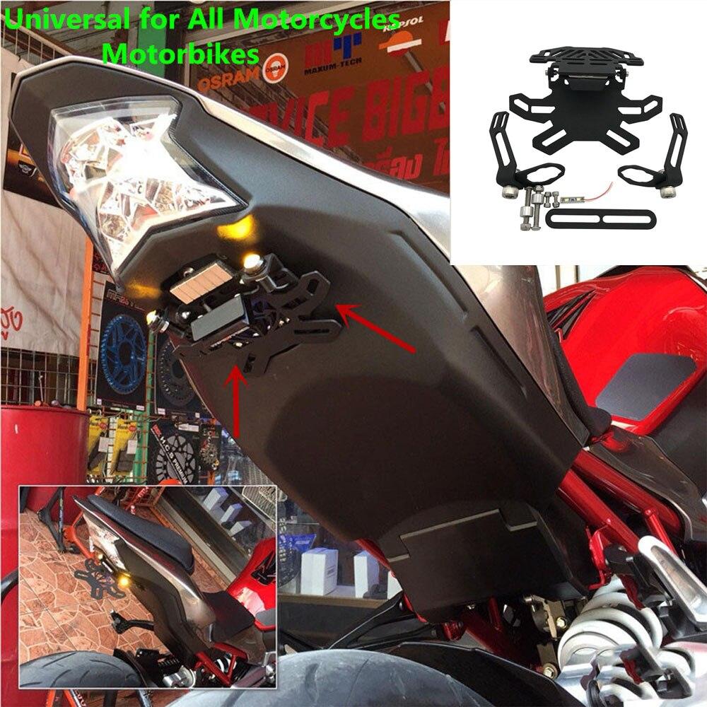 Для Honda CBR250R CBR 250 R 2011-2015 2012 Регулируемый CNC стальная регистрация светодиодный светильник номерной знак рамка держатель кронштейн