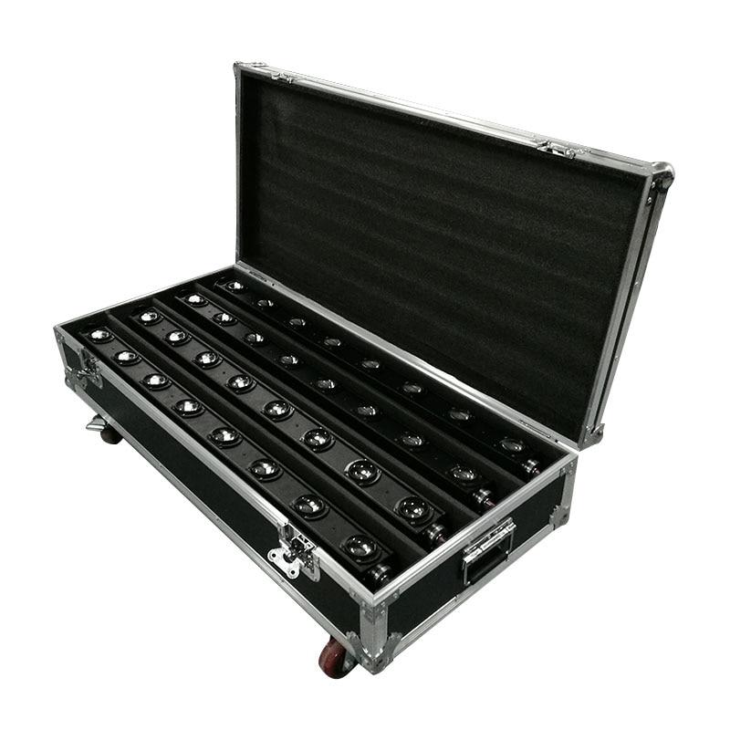 FlightCase con 4 Uds LED 8x12W barra de luz con cabezal móvil RGBW perfecto para Fiesta de DJ móvil discoteca pista de baile