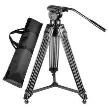 Neewer Professional 61 cali es/155 cm statyw kamery wideo ze stopu aluminium 360 stopni Fluid Drag Head 1/4 + 3/8 cala Quick Release