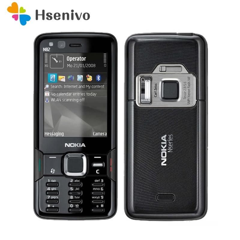 Перейти на Алиэкспресс и купить Восстановленный Nokia N82-оригинальный телефон Nokia N82 GSM 3G сеть WIFI 5MP камера FM 2,4 дюймов гарантия 1 год бесплатная доставка