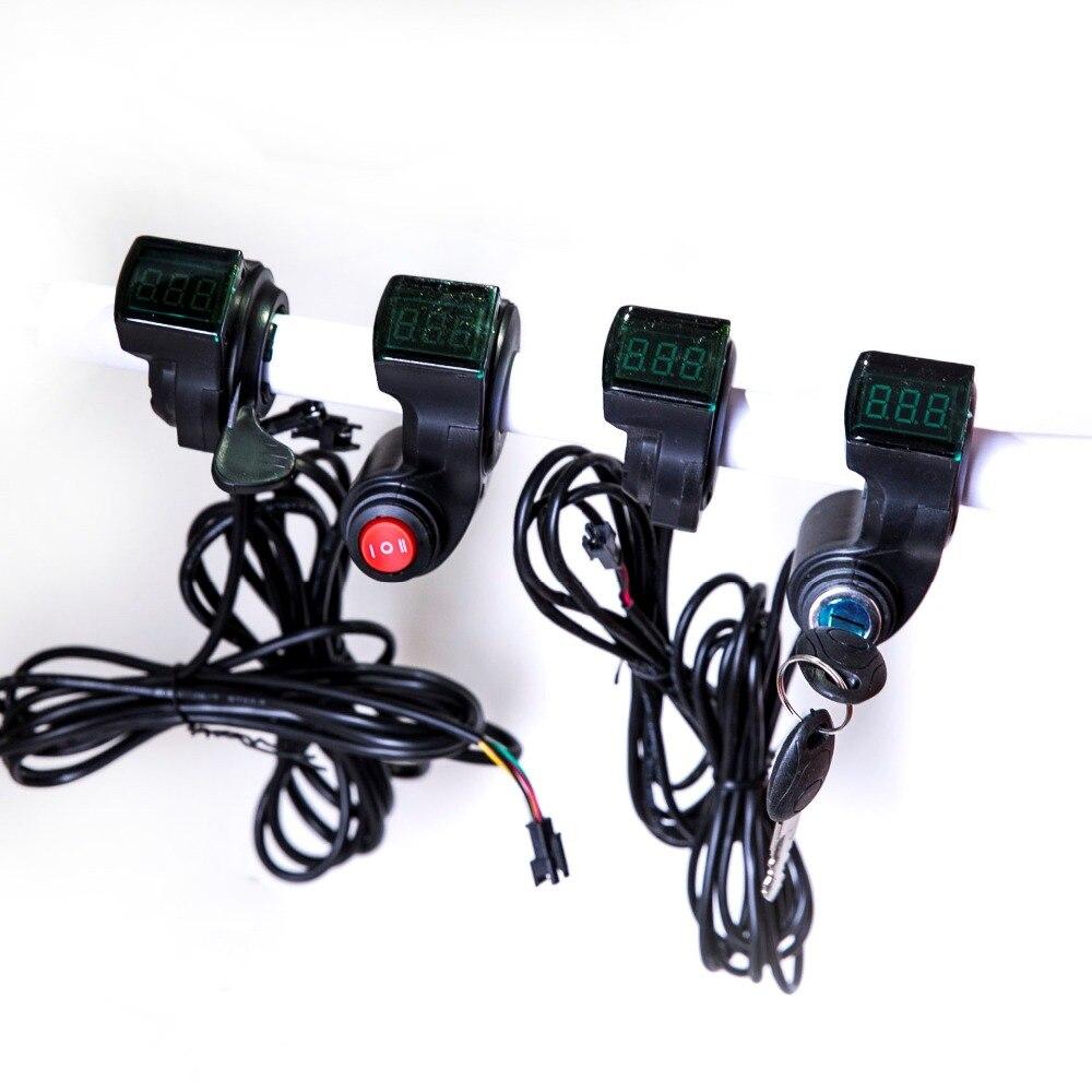 Accesorios eléctricos para Bicicleta, pantalla LED de voltaje, 12v, 24V, 36V, 48V,...