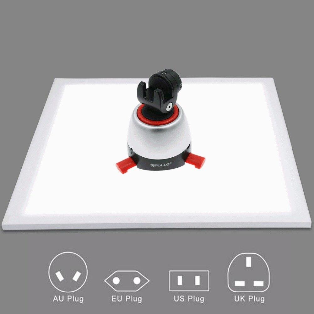 1200LM LED estudio de fotografía sin sombras luz inferior sin sombra Panel de lámpara para sesión de fotos caja de tienda y sin luz de atenuación Polar