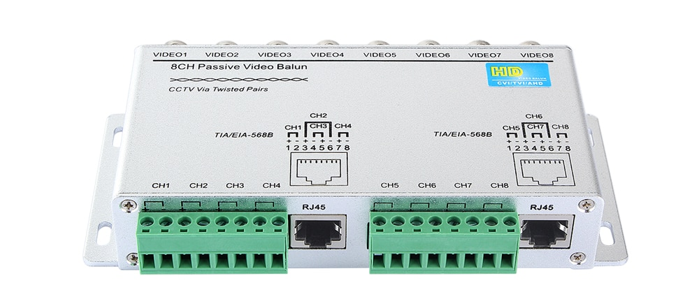 4CH 8CH HD CVI/TVI/AHD Passive Transceiver 8Channels Video Balun Adapter Transmitter BNC to UTP Cat5/5e/6 Cable 720P 1080P enlarge