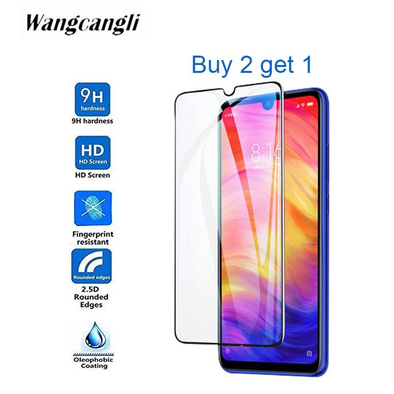 Comprar 2 obtener 1 HD funda completa templada de vidrio para Xiaom de Redmi note7 S2 Note7 Pro 6A note6 pro pantalla transparente cristal protector de la película