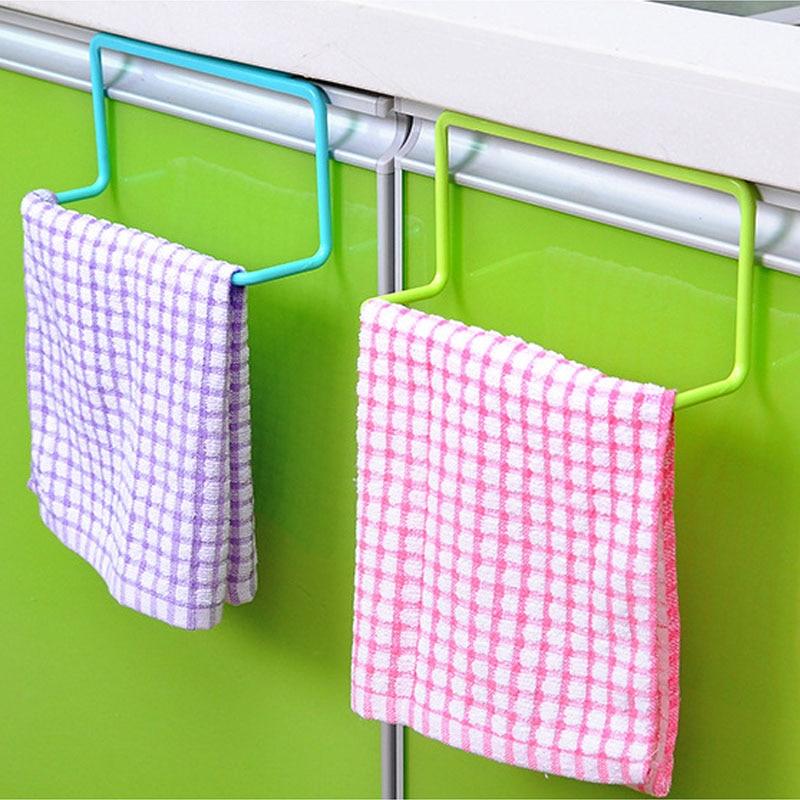 Кухня органайзер стойка за кърпи окачване държач баня шкаф шкаф врата задна закачалка аксесоари за кухня