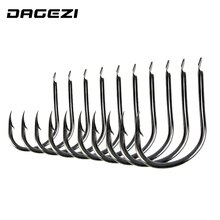 DAGEZI 500pcs/set 10 size #3~12 high carbon steel carp fishing hooks pack jig head carp Fishing Gear Accessories