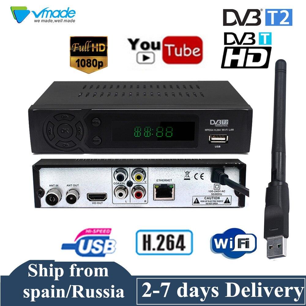 Смарт-ресивер DVB-T с разрешением HD, цифровой ТВ-тюнер, приемник Youtube, DVB-T, H.264, Эфирный декодер, ТВ-ресивер, ТВ-ресивер, ТВ-приставка