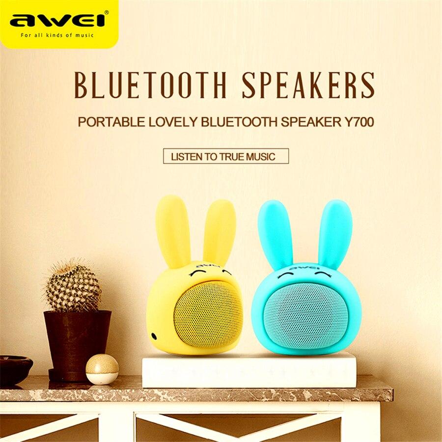 Awei-altavoz Y700 con Bluetooth, altavoz inalámbrico bonito e innovador, minialtavoz portátil de alta fidelidad inteligente, minialtavoz Portátil con Bluetooth