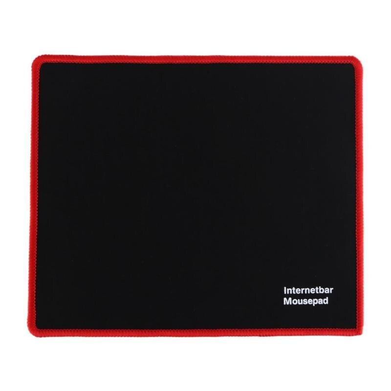 Alfombrilla de ratón para juegos de 25x21cm con bloqueo en los bordes alfombrilla de ratón de goma para PC ordenador portátil ordenador Juegos negros alfombrilla de ratón micropad nuevo