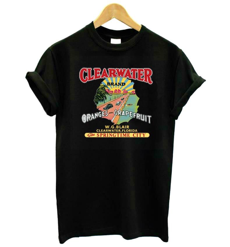 Florida poster vintage Imprimir Mulheres camiseta de Algodão Casual camisa Engraçada de t Para Senhora Menina Top Tee Hipster KT-13 do Navio Da Gota